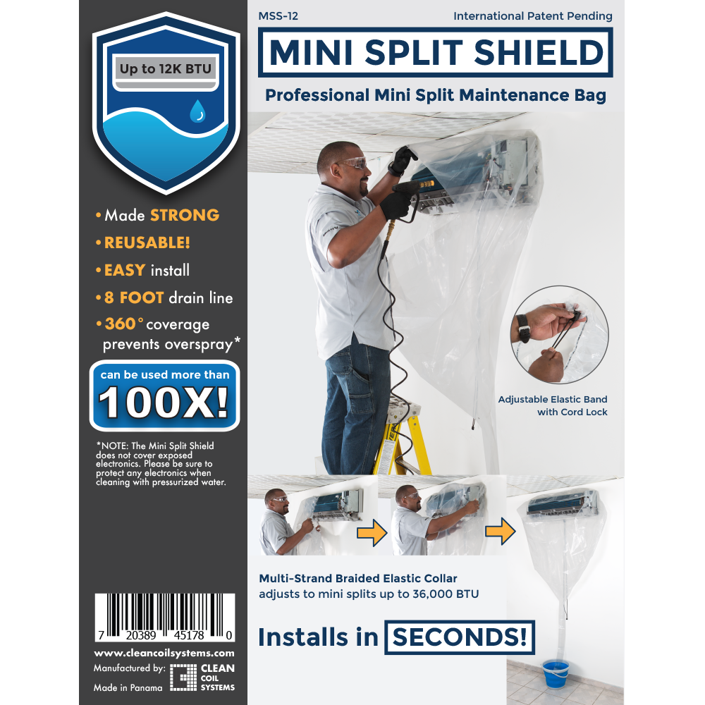 Mini Split Shield Up To 12 000btu 3 5kw Clean Coil Systems